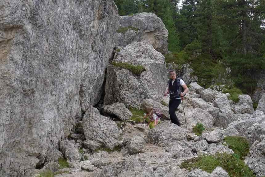 Von Monte Pana zur Comici-Hütte: Pferde, Felsen, gutes Essen